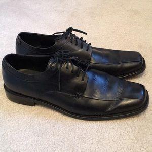 Calvin Klein Men's Oxford Black Leather Shoes